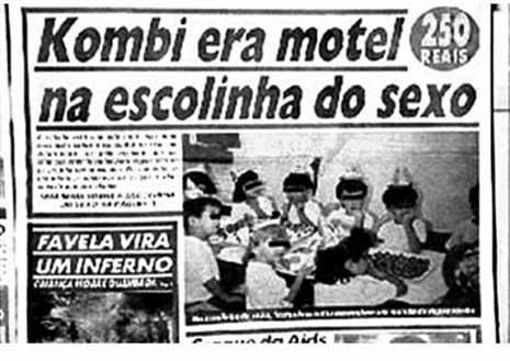"""Capa do extinto """"Notícias Populares"""" sobre o caso da Escola Base - foto: reprodução"""