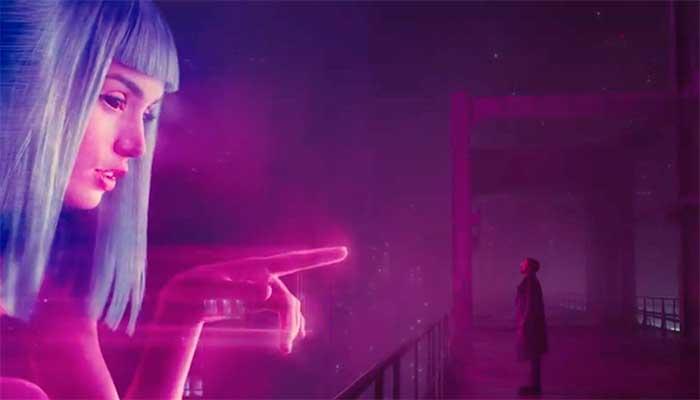 """Outdoor interativo e com realidade aumentada no filme """"Blade Runner 2049"""": a realidade já se aproxima da ficção – Foto: divulgação"""
