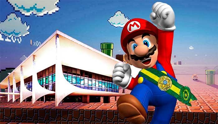 Mario Bros para presidente do Brasil? Muita calma nessa hora! Imagem: composição com imagens de divulgação