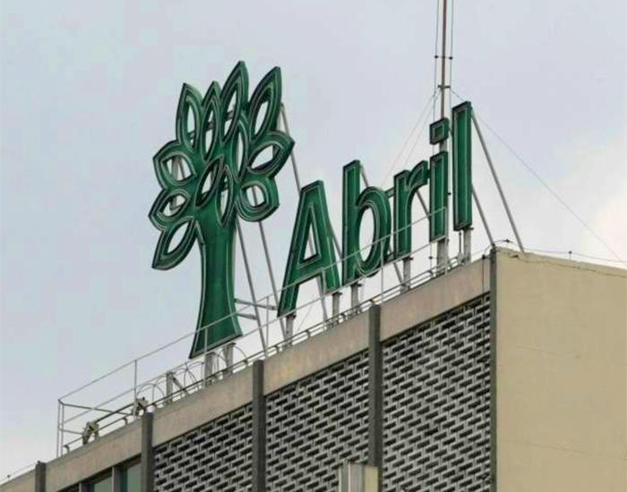 Logo da Editora Abril no seu edifício na Marginal Tietê
