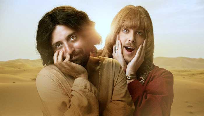 """Jesus Cristo (Gregório Duvivier) e seu amigo gay (Fábio Porchat), na sátira """"A Primeira Tentação de Cristo"""", do Porta dos Fundos - Foto: reprodução"""