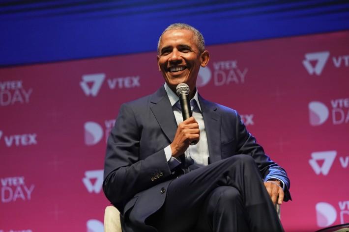 O ex-presidente dos EUA Barack Obama destacou a importância da educação e dos professores no primeiro dia do VTEX Day, que está acontecendo em São Paulo - Foto: Everton Rosa